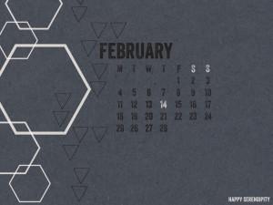 February 2013 Calendar Gray