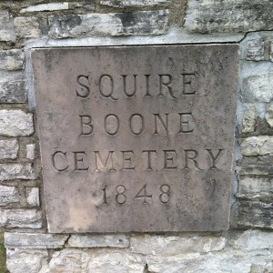 Squire Boone Cemetery 1848